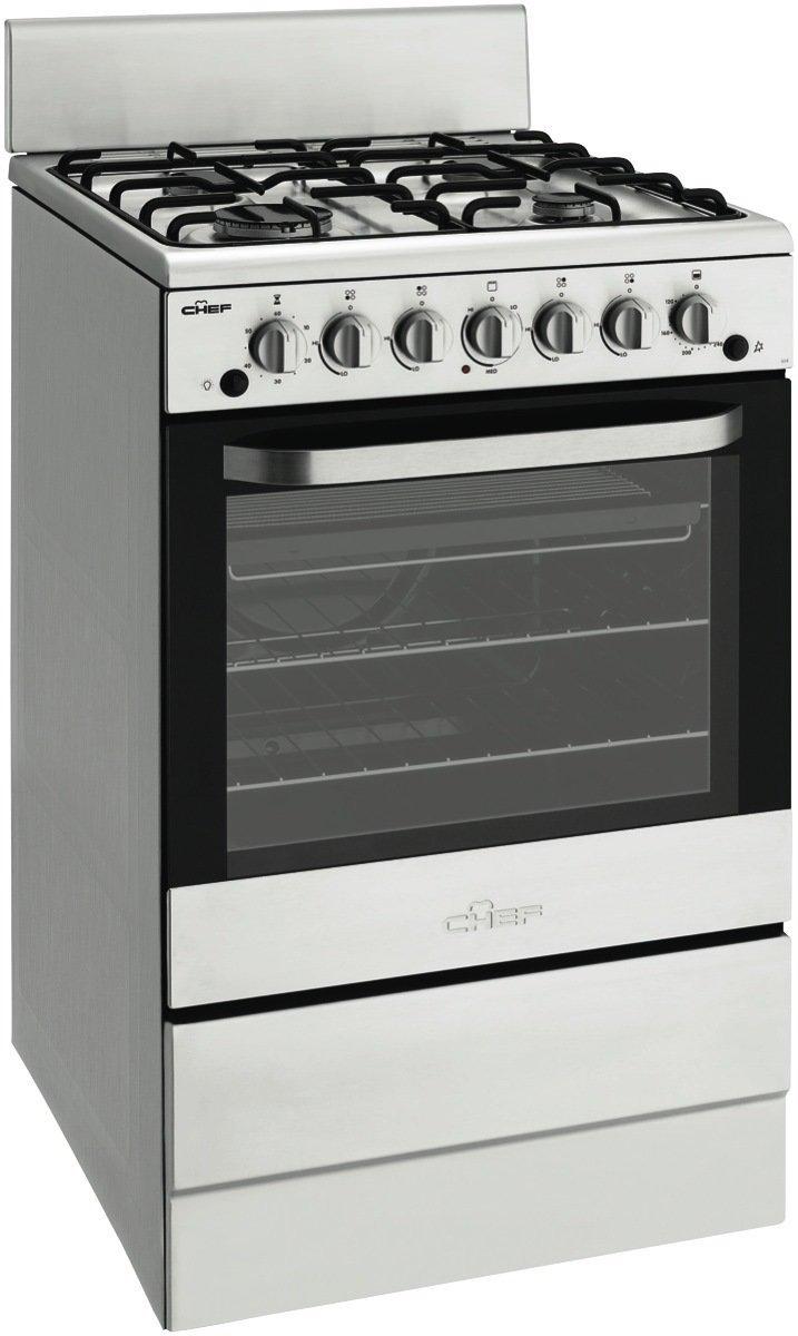 Chef CFG504SALP 54cm Freestanding LPG Gas Oven Stove