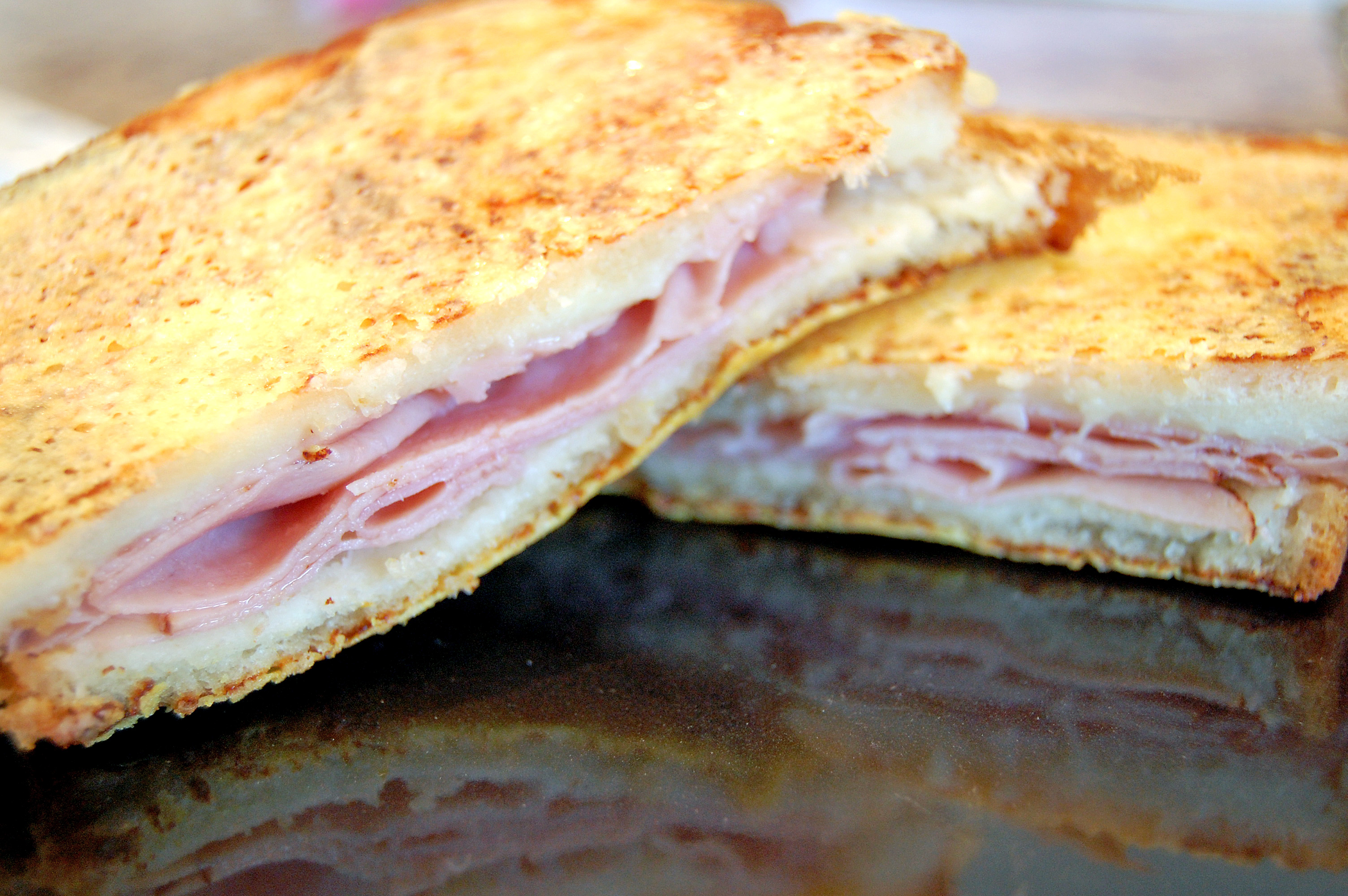 Croque Monsieur Ham And Cheese Sandwich Recipe — Dishmaps