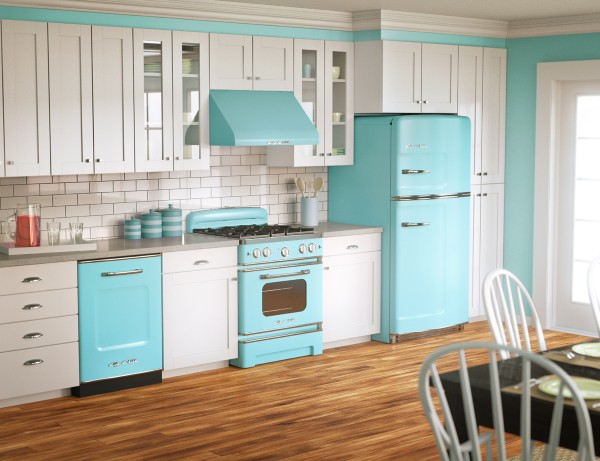 Some Of Us Prefer A More Retro Look That Hearkens Back To The Kitchens Of  Yesteryear, With Colours, Big Brass Knobs, And Soft Curves.