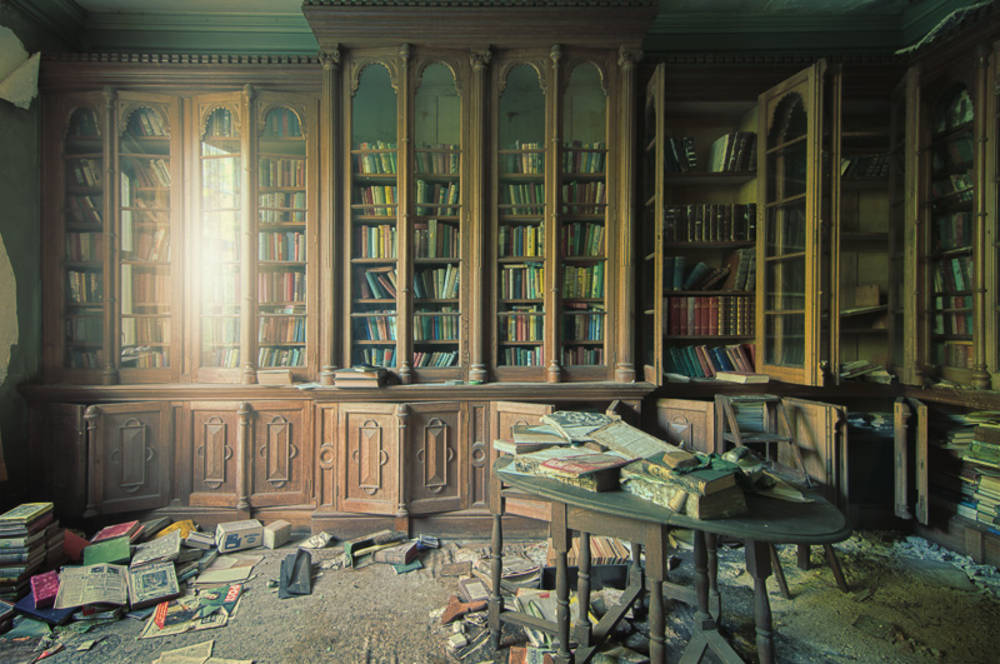 dusty library