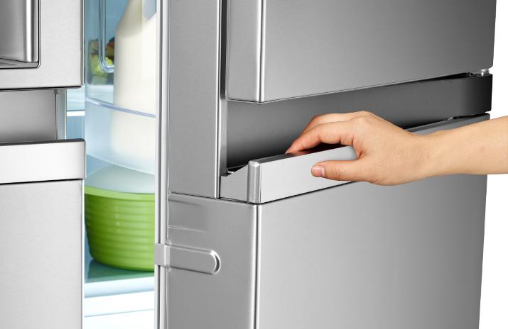 fridge hot between doors
