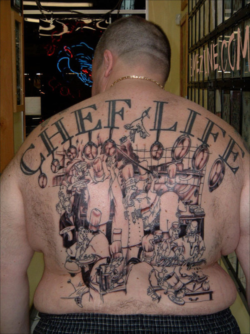 chef tattoo tattoos thug pig inspired food cooking chefs tatoos quotes tupacs designs ink appliance domestic cool famous related source