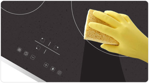clean induction cooktop