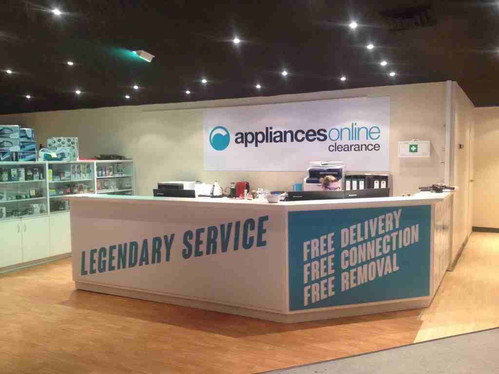 appliances online clearance store indoors