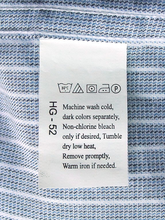 source: http://commons.wikimedia.org/wiki/File:Laundry_symbols_on_a_care_label_attached_to_a_shirt.JPG