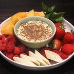 white chocolate and passionfruit dip
