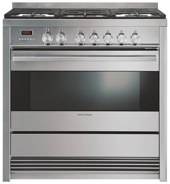 Freestanding Fisher & Paykel Dual Fuel Oven Stove OR90SDBGFPX1