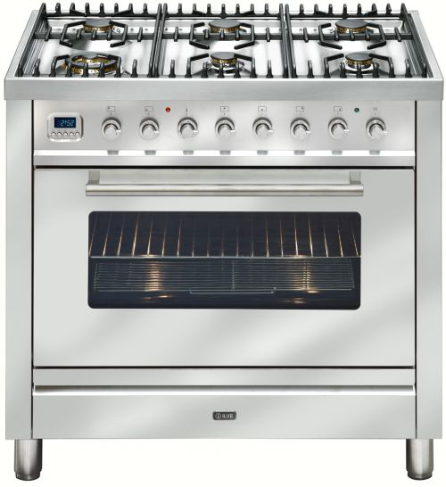 Freestanding Ilve Dual Fuel Oven Stove NT906WMPSS