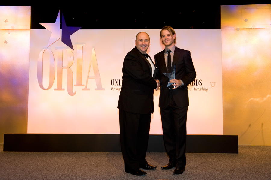 John Winning accepting the Best Customer Experience Award at the 2010 ORIAs
