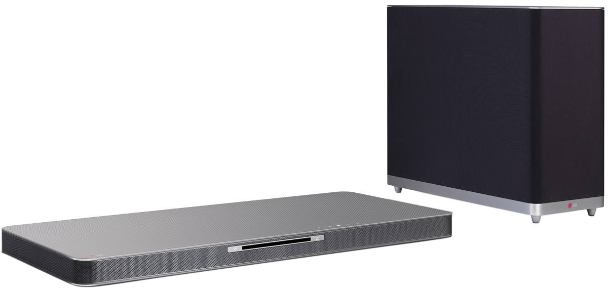 LG LAB540W 4.1 Multi Channel Sound Plate with Built-In Blu-Ray Player