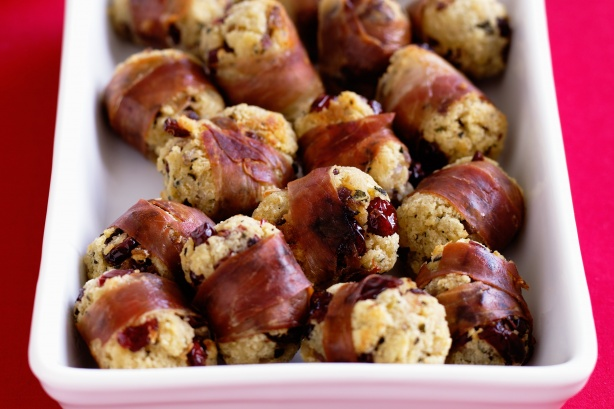 Cranberry stuffing balls- Image & recipe sourced from Taste