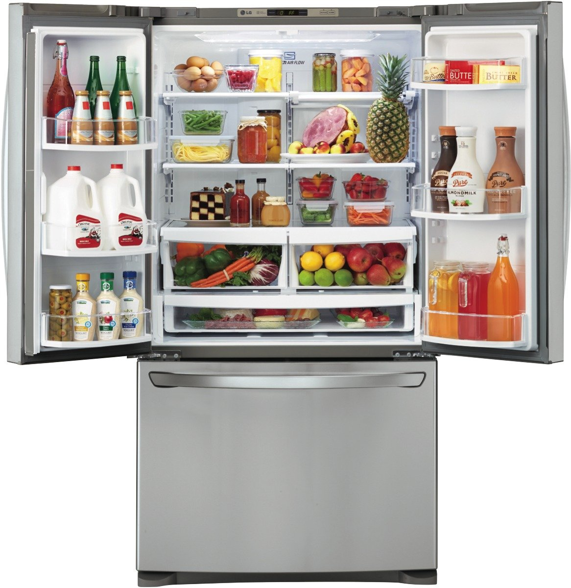 unusual refrigerator lg double door. LG GF B620SL 620L French Door Fridge Fridges  an Appliances Online Buying Guide