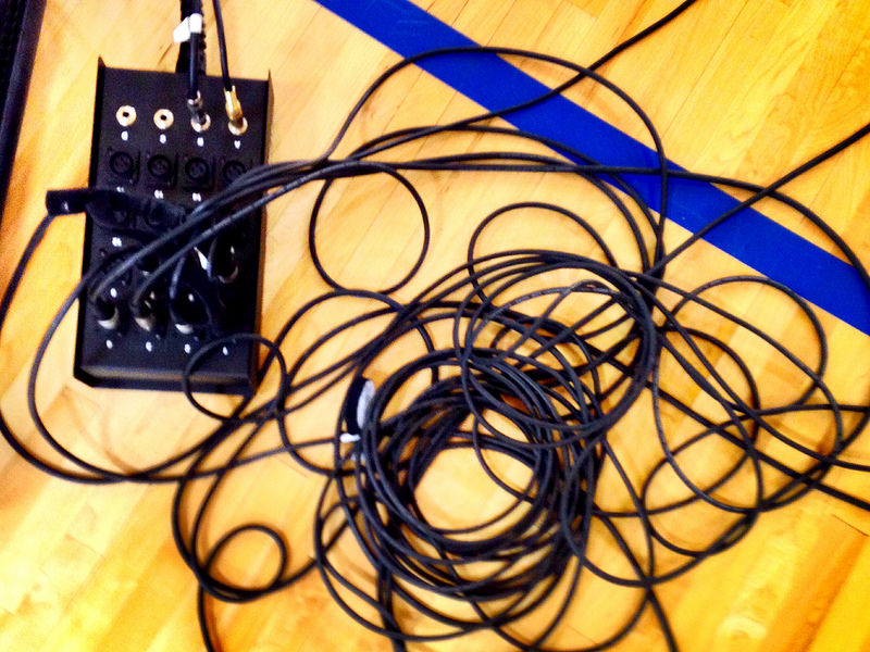 tangled mic cords