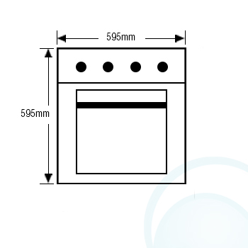 600mm/60cm Westinghouse Electric Wall Oven POR667S Front Dimension
