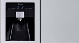 LG 590L Side by Side Refrigerator with Non Plumbed Ice & Water- MODEL: GC-L227FNSL