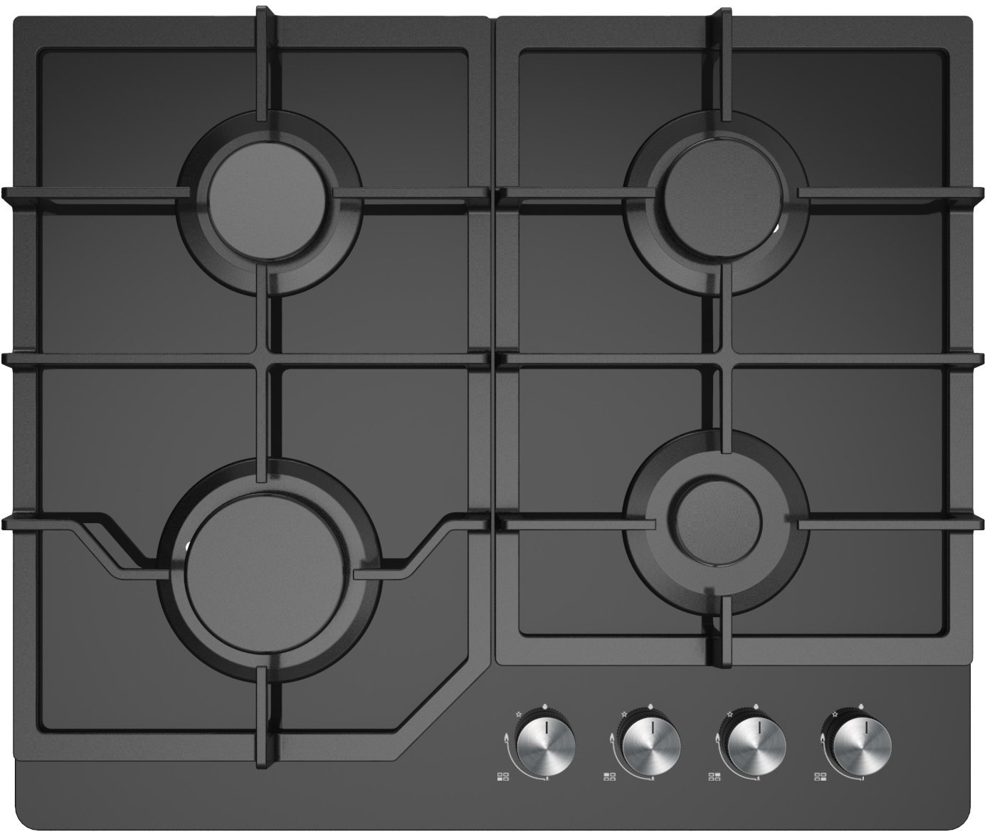 Gas Cooktop Glass Midea 60g40me084 Gfn 60cm Natural Gas Cooktop Appliances Online