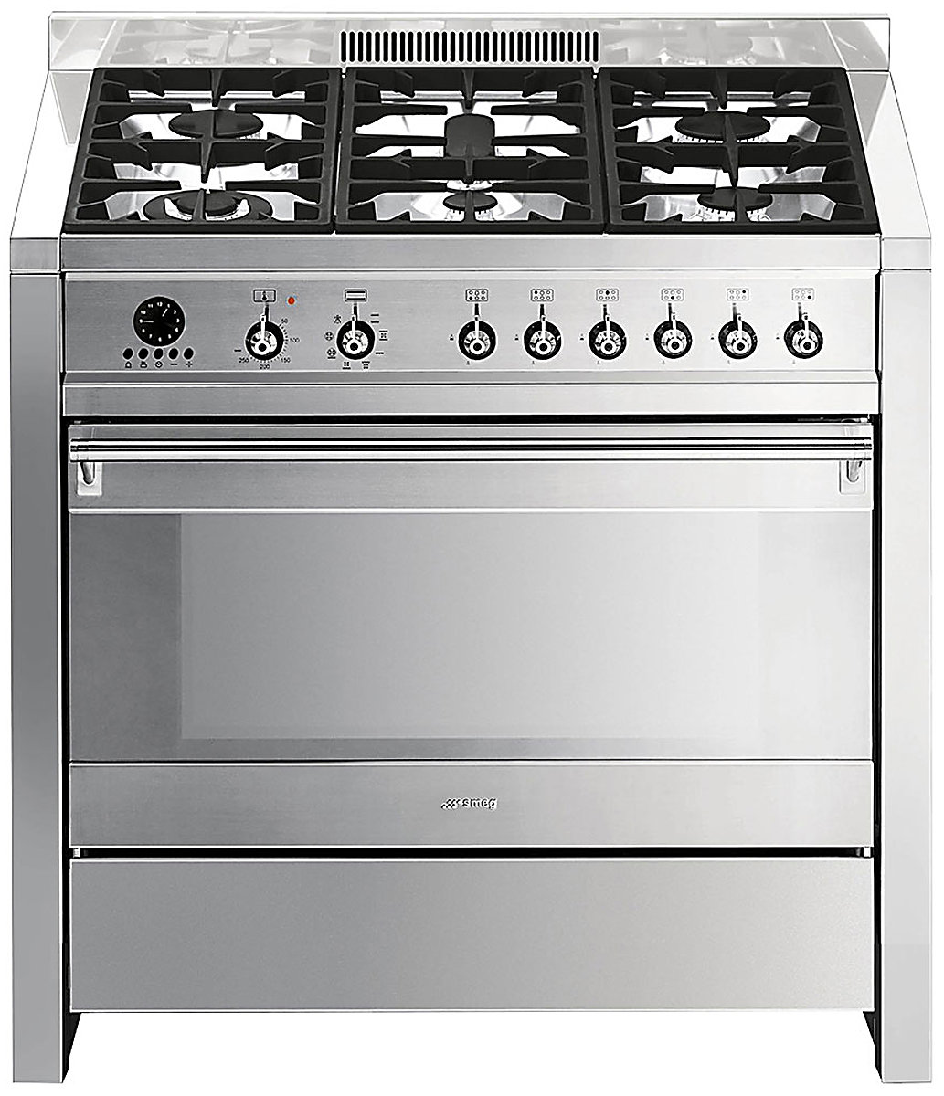 Smeg A11x 7 90cm Classic Aesthetic Freestanding Dual Fuel Oven Stove Electric Stainless Steel Winning Appliances Online
