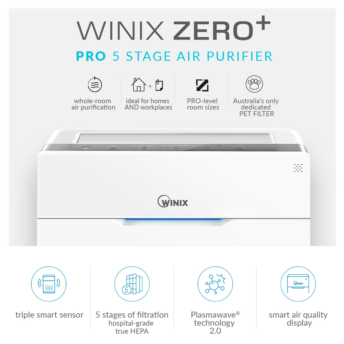New Winix Zero Pro 5 Stage Air Purifier Aus 1250azpu Ebay