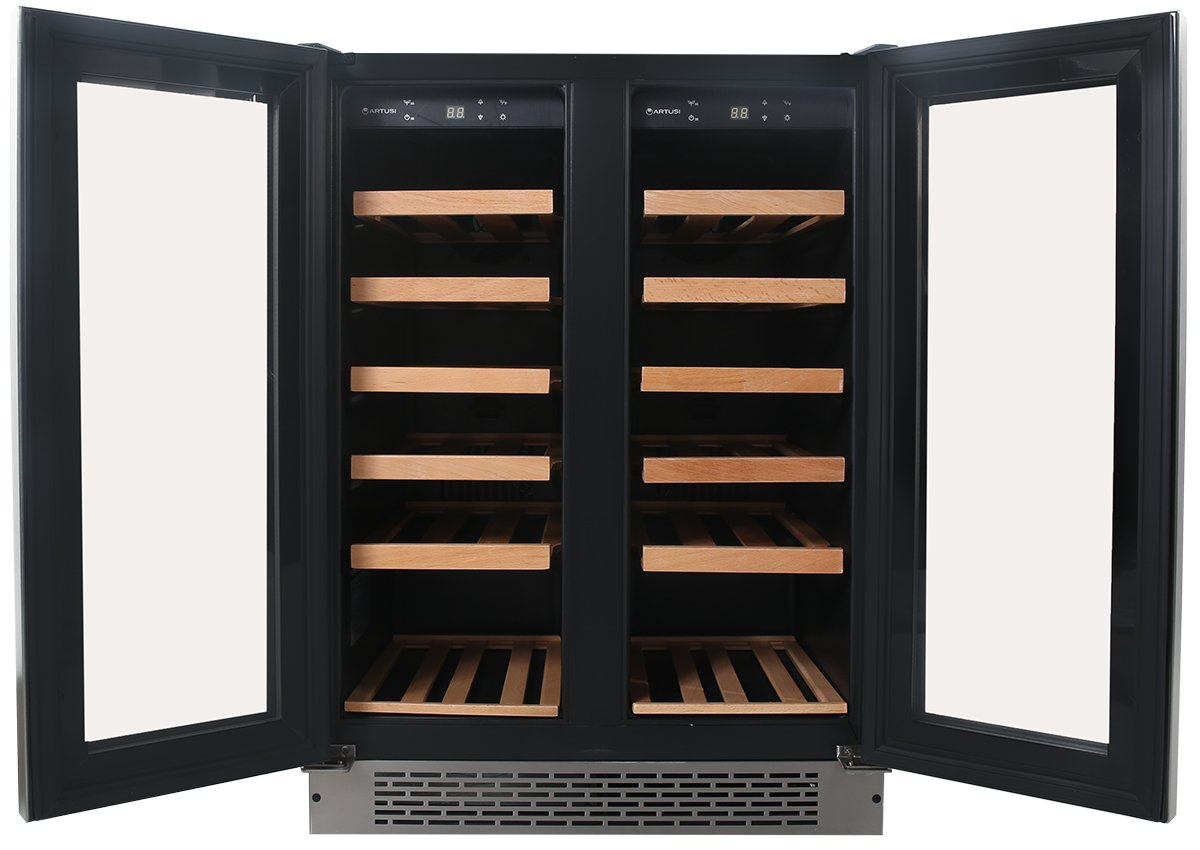 Wine Bottle Storage Angle Artusi Awc2x 36 Btls Wine Storage Cabinet Appliances Online