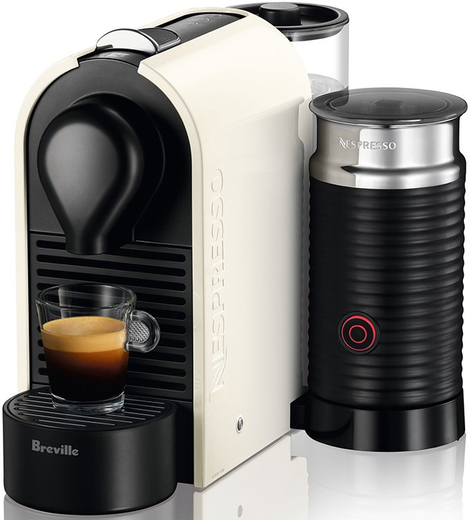new breville nespresso u coffee machine bec300mw ebay. Black Bedroom Furniture Sets. Home Design Ideas