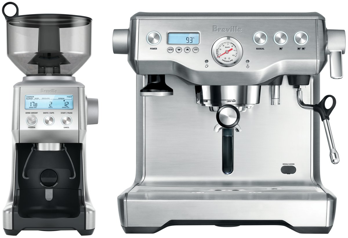 Delta High Living Coffee Maker With Grinder : Breville BEP920BSS Dynamic Duo Dual Boiler with Smart Grinder Appliances Online