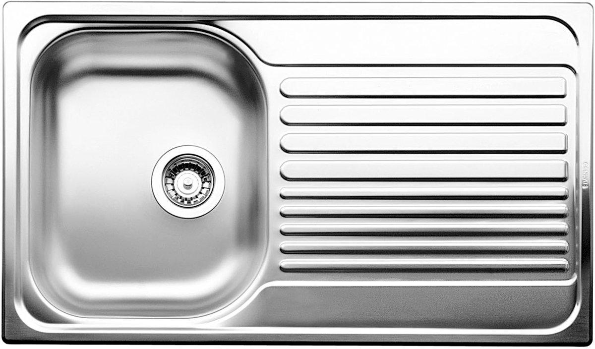 Charmant Blanco BTIPO45SRHD Single Bowl Left Hand Drainer Sink | Appliances Online