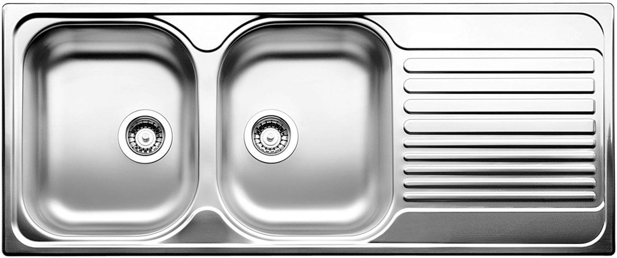 Blanco BTIPO8SRHD Double Bowl Right Hand Drainer Sink | Appliances Online