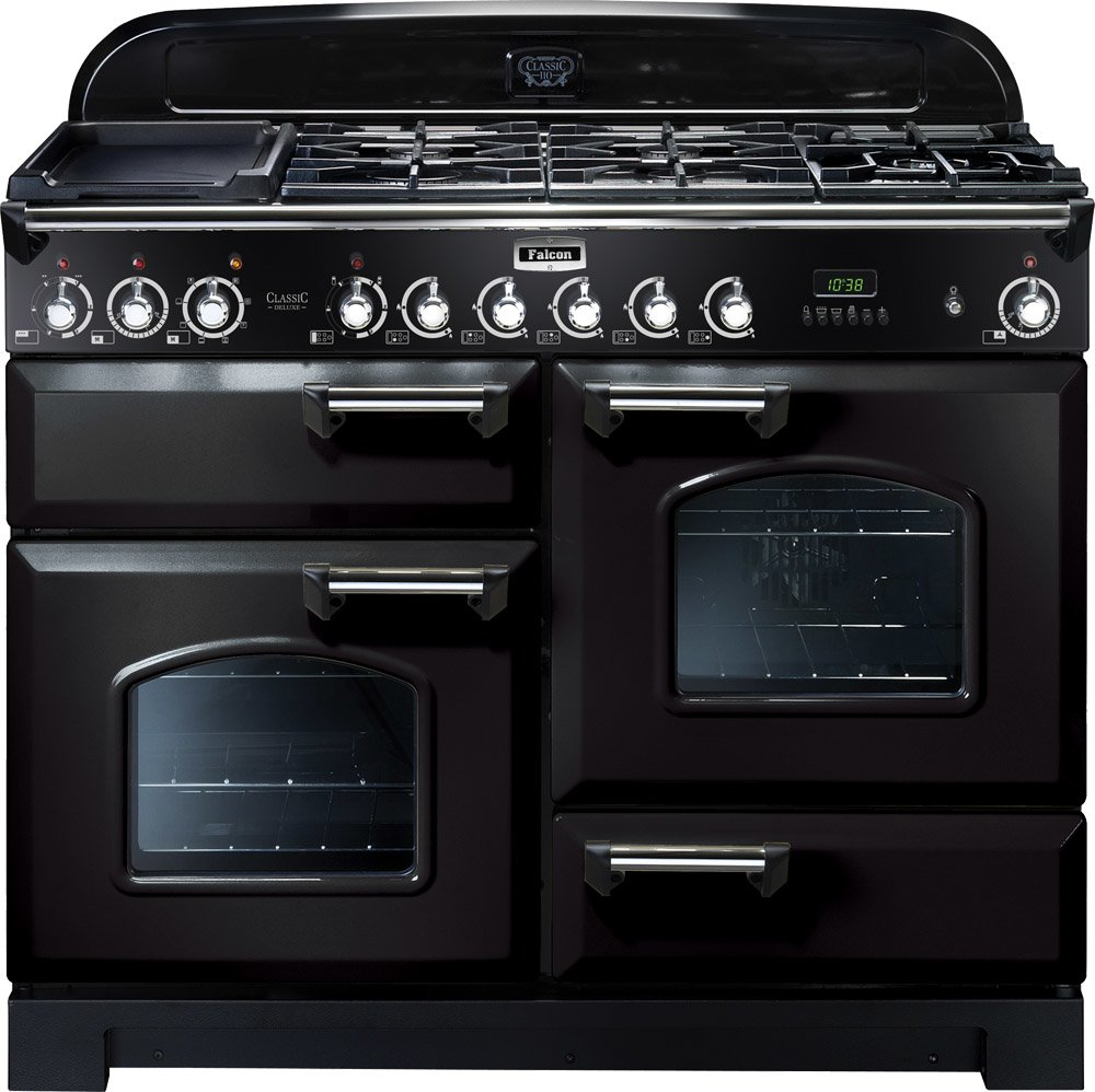 falcon cdl110dfbl ch freestanding dual fuel oven stove. Black Bedroom Furniture Sets. Home Design Ideas