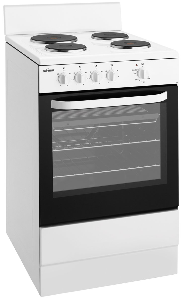 chef cfe532wa freestanding electric oven stove reviews appliances online. Black Bedroom Furniture Sets. Home Design Ideas