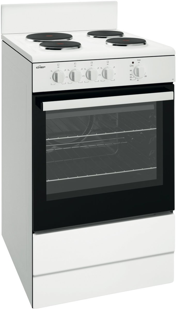 Chef Cfe532wb 54cm Freestanding Electric Oven Stove Appliances Online Wiring Diagram 4 Wire