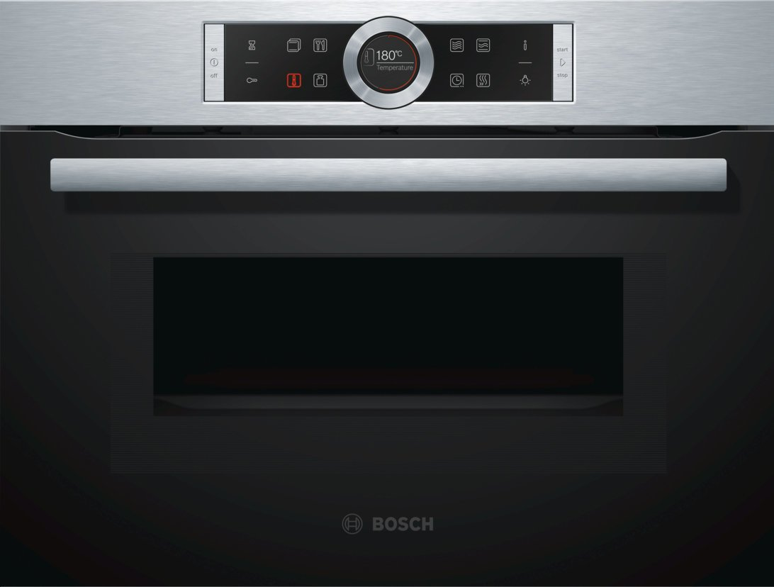 Bosch CMG633BS1B 45cm Serie 8 Compact Electric Wall Oven with Microwave |  Appliances Online