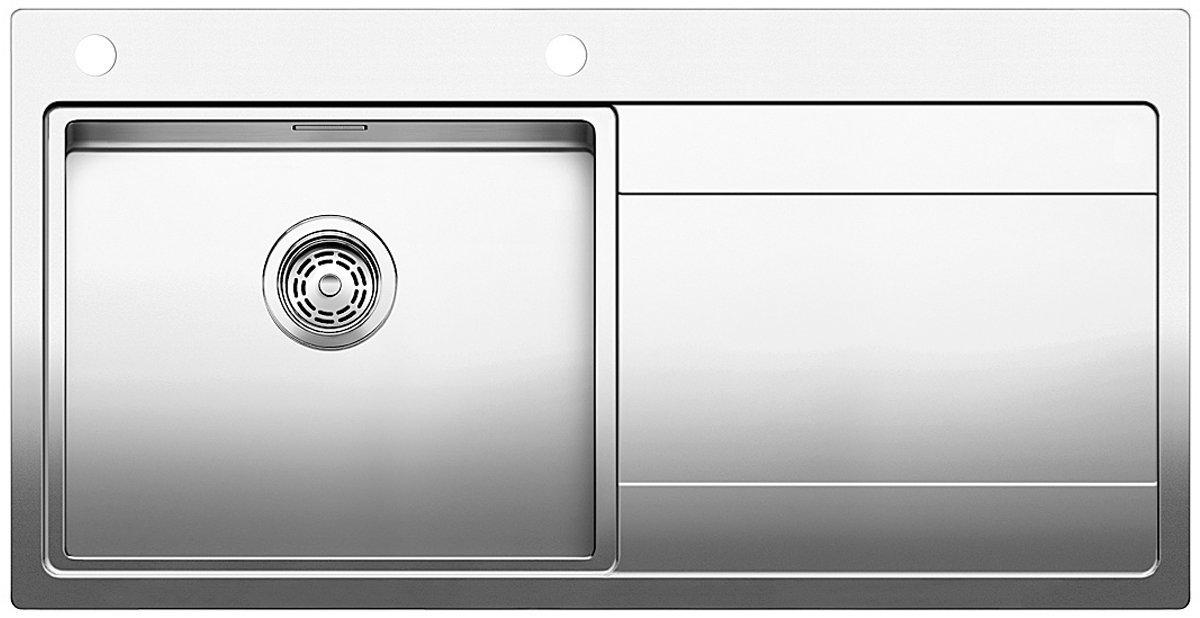 Blanco DIVON5SLK5 Single Bowl Right Hand Drainer Inset Sink ...