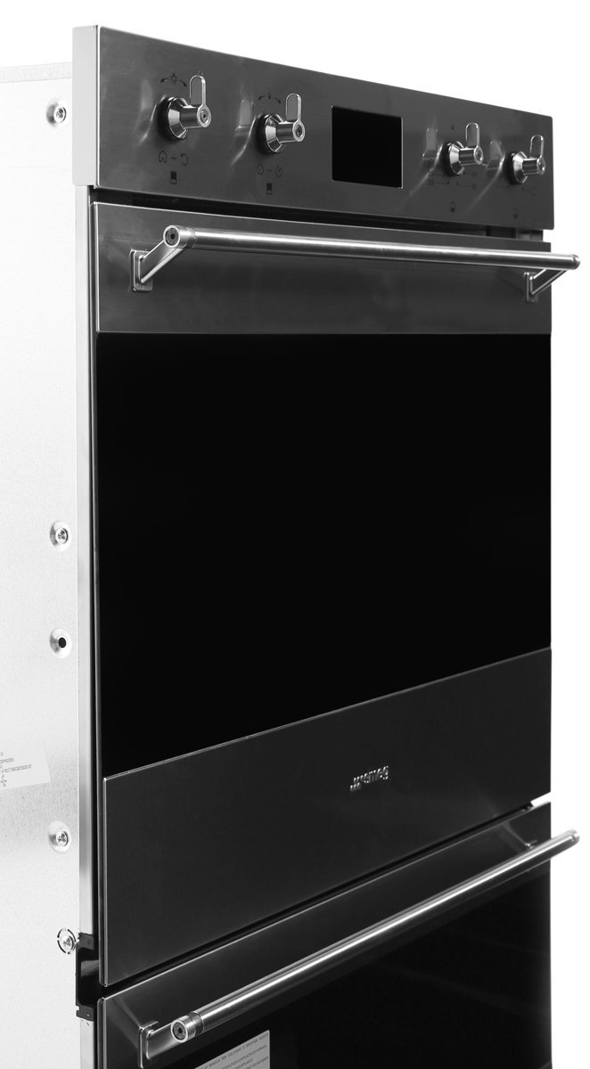 Smeg Dospa6395x 60cm Built In Pyrolytic Electric Double Oven