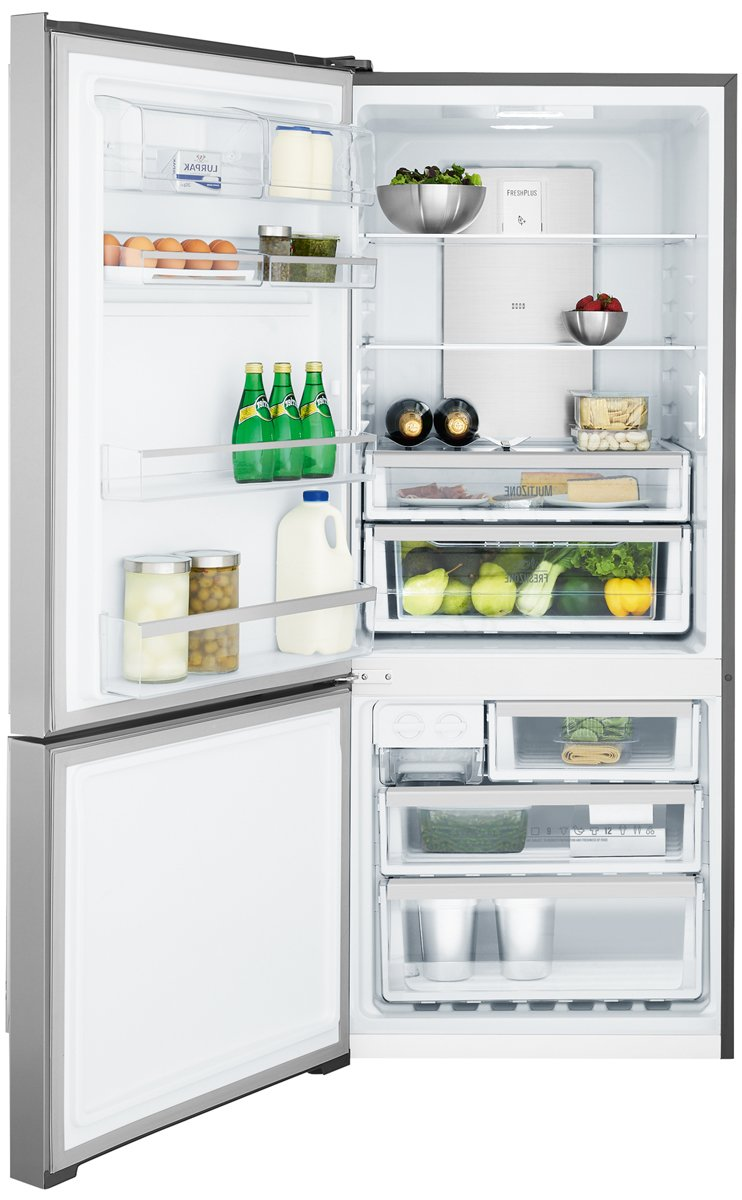 electrolux fridge. electrolux ebe4507sa-l 453l bottom mount fridge