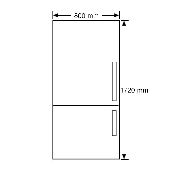 electrolux ebe5107sdl 510l bottom mount fridge