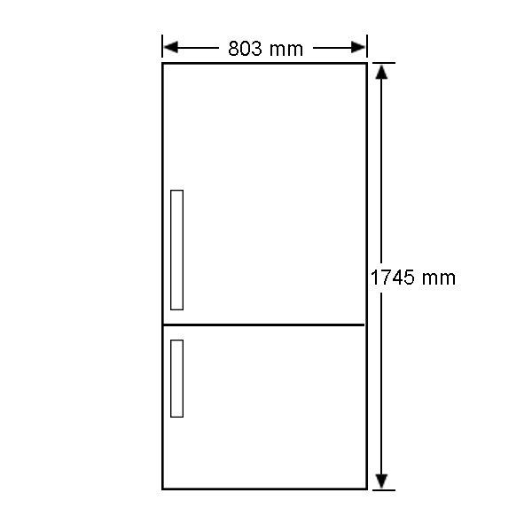 electrolux ebe5167sdrh 510l fridge