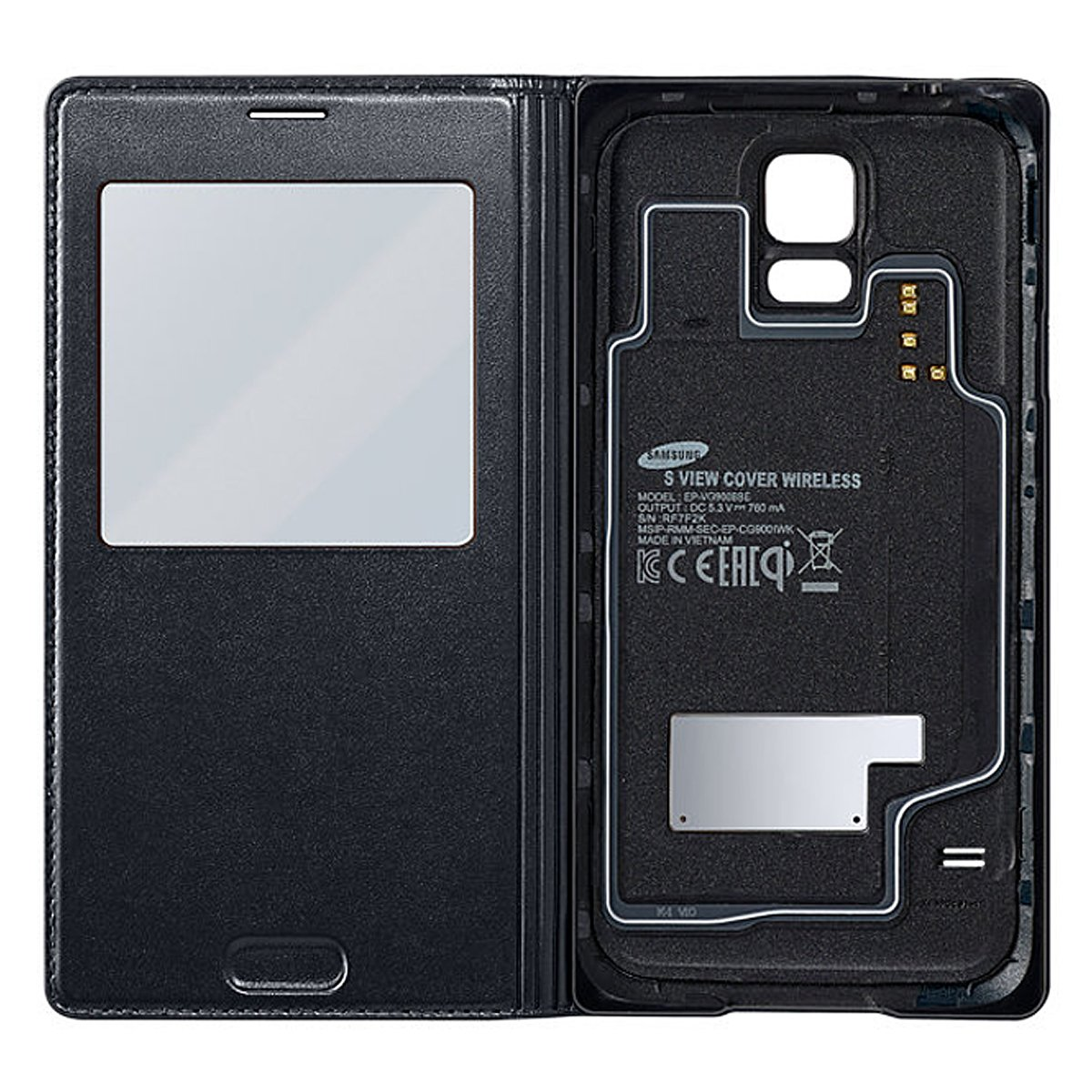 info for e4401 4ed60 Samsung Galaxy S5 S View Wireless Charging Cover (Black) EP-VG900BBEGWW