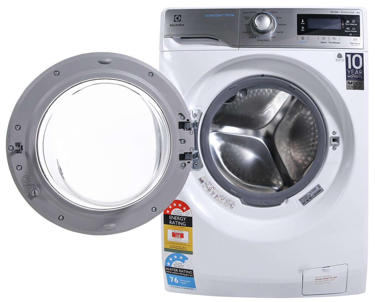 electrolux 9kg front loader. electrolux ewf14933 9kg front load washing machine loader f