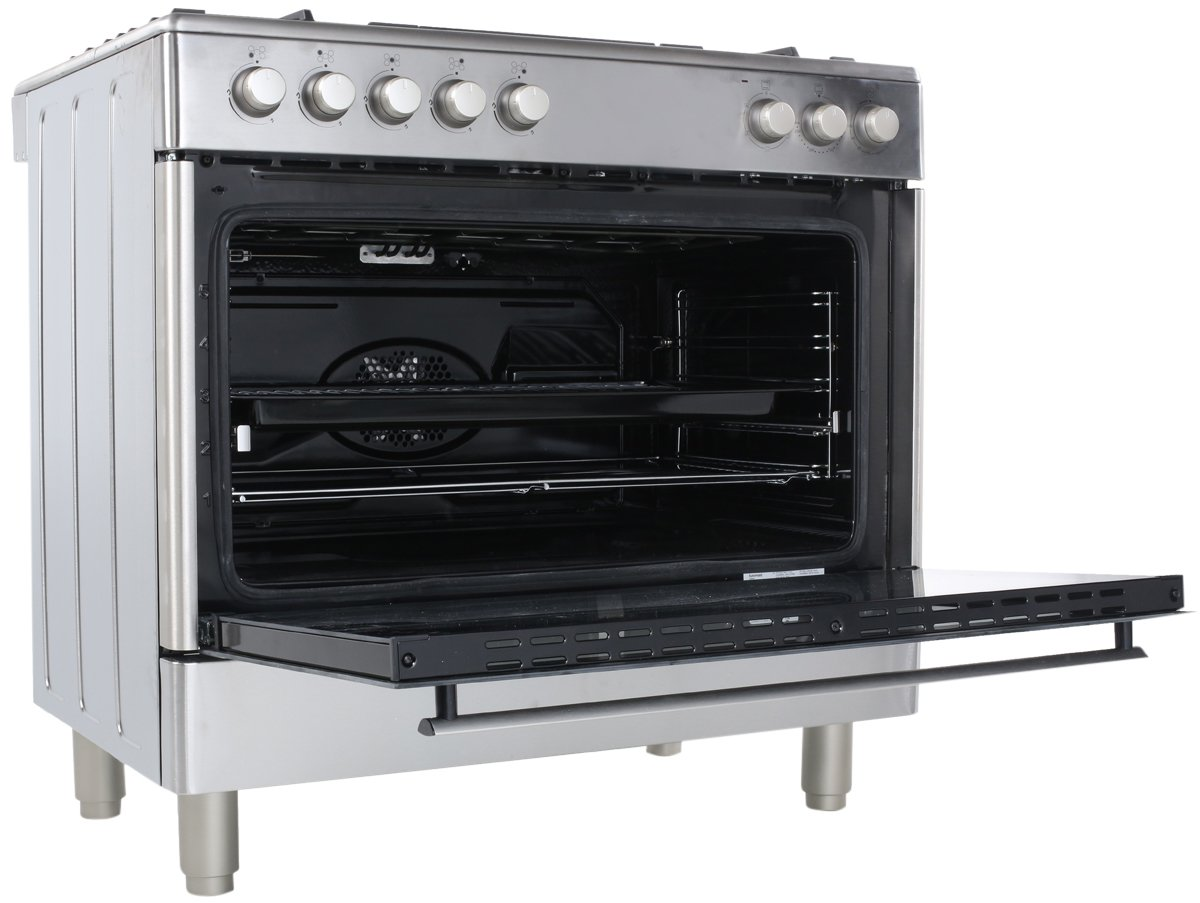 euromaid ge90s freestanding dual fuel oven stove appliances online