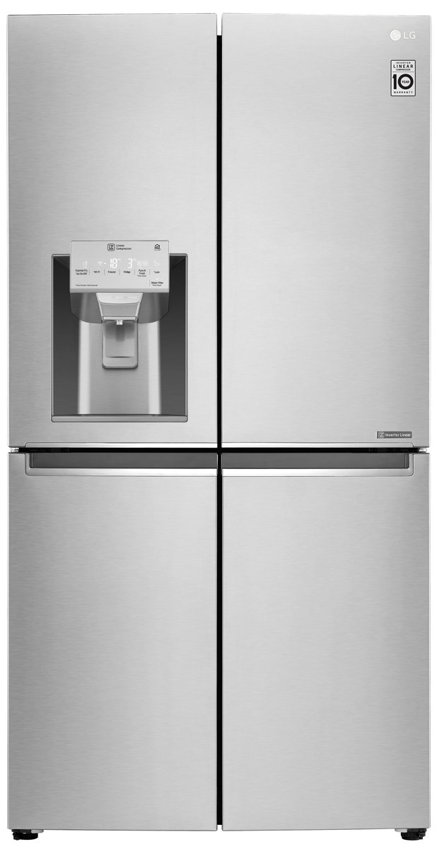 lg buy maker ice steel door fridge with slim french refrigerator stainless