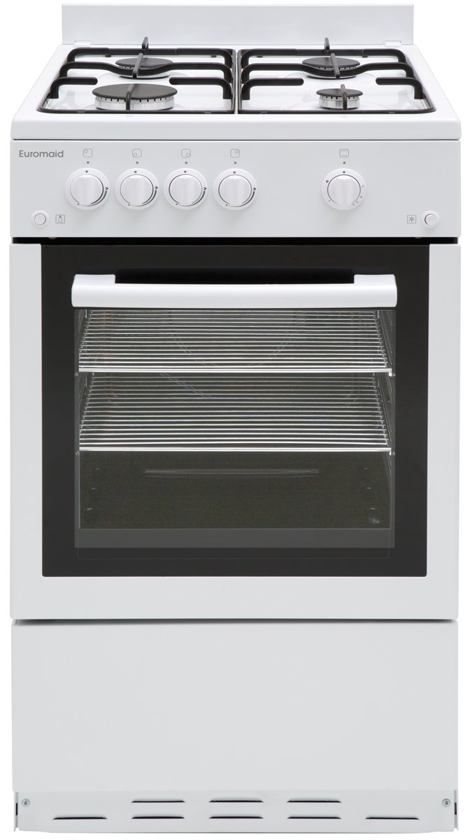 Euromaid GGFW50NG 50cm Freestanding Natural Gas Oven/Stove ...