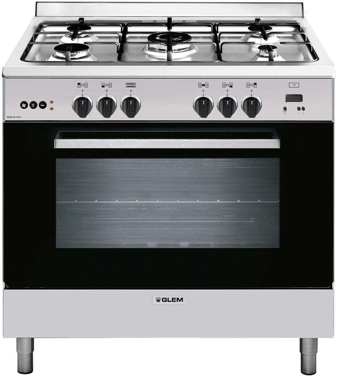 glem gl965mvi 90cm freestanding natural gas ovenstove appliances online - Kitchen Stove