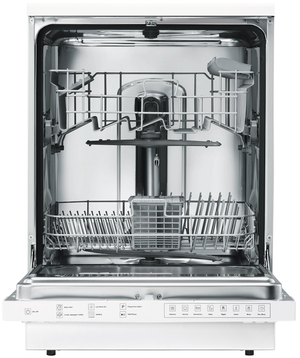 Small Dish Washer Haier Hdw12 Sfe3wh Freestanding Dishwasher Appliances Online