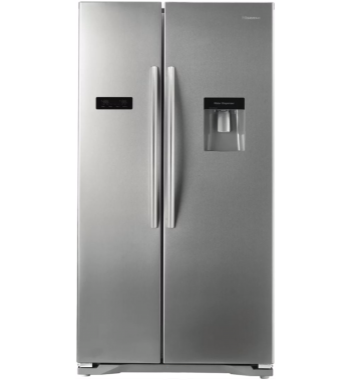 Hisense HR6SBSFF610SW 610L Side by Side Fridge