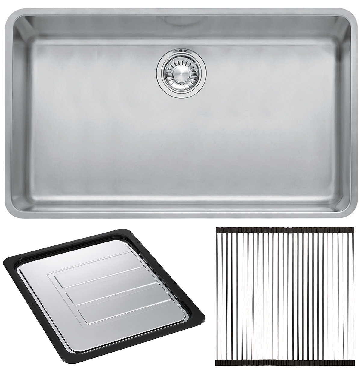 Franke KBX110 70OF Kubus Single Bowl Undermount Sink With Accessories |  Appliances Online