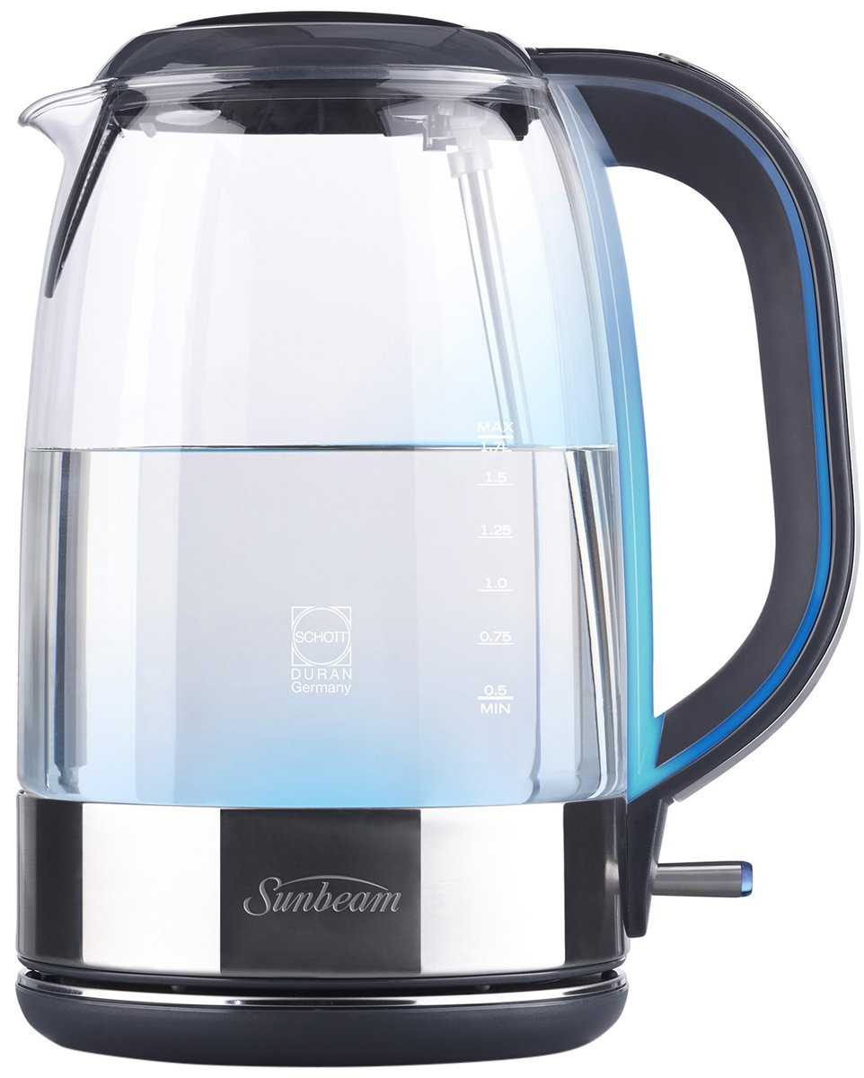how to clean a sunbeam glass kettle
