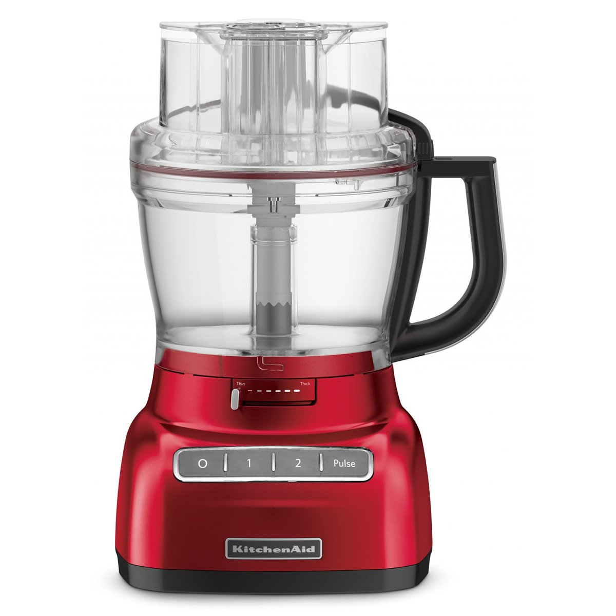 New Kitchenaid Kfp1444aca Platinum Food Processor Candy Apple Red