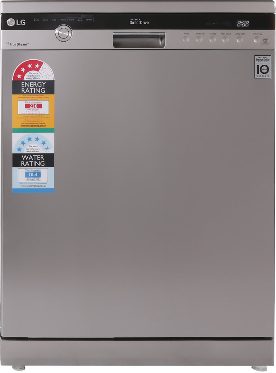 lg ld1484t4 stainless dishwasher with true steam