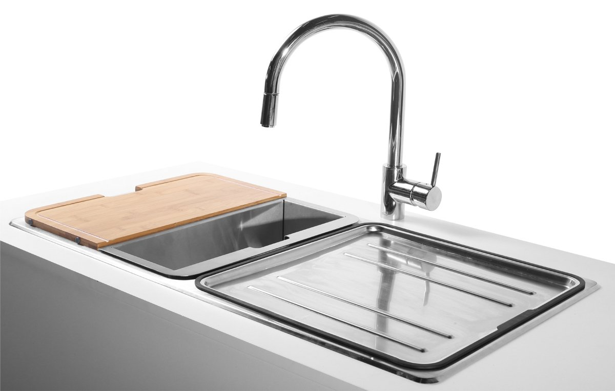 Abey LG200TPK Lago Inset Double Bowl Sink Pack | Appliances Online
