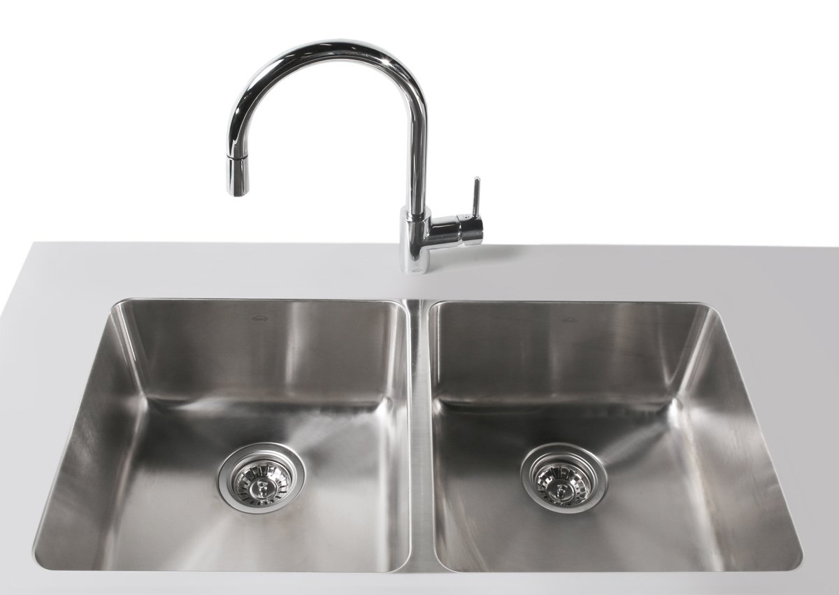 Abey LG200UTPK Lago Double Bowl Undermount Sink Pack | Appliances Online
